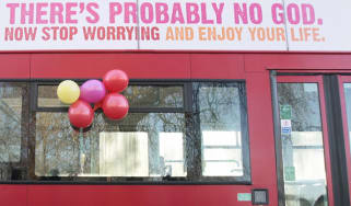 A poster on a London bus