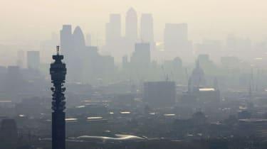 Air Pollution over London's skyline