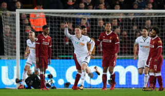 Alfie Mawson Swansea City Liverpool Premier League