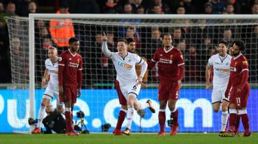 Alfie Mawson Swansea City Liverpool Premier League