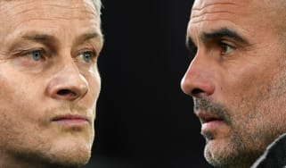 Man Utd manager Ole Gunnar Solskjaer and Man City boss Pep Guardiola