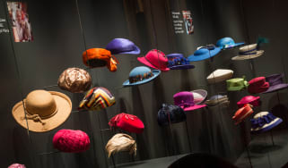 EMBARGOED UNTIL 00:01 BST FRIDAY, 22 JULY 2016<br/><br/>A display of The Queen's hats from Fashioning a Reign: 90 Years of Style from The Queen's Wardrobe at Buckingham Palace.<br/><br/>Image