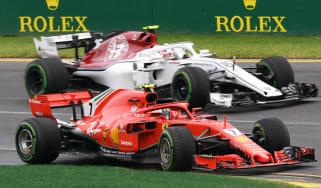 F1 Ferrari Charles Leclerc Sauber Kimi Raikkonen