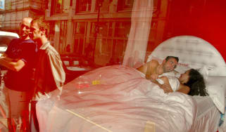 A couple are observed having sex as part of an artwork in London in 2002