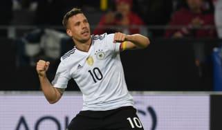 Lukas Podolski Germany vs England
