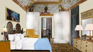 Disegno architettonico della camera da letto del palazzo