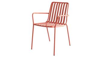 Gaby orange metal outdoor armchair
