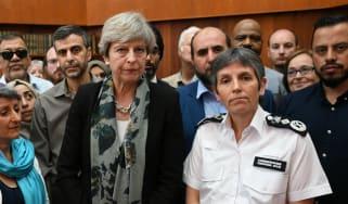 Theresa May and Cressida Dick