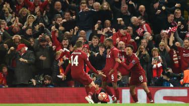 Georginio Wijnaldum (centre) scored twice in Liverpool's 4-0 win against Barcelona