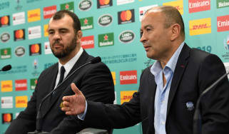 Australia head coach Michael Cheika and England head coach Eddie Jones