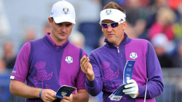 Ian Poulter and comptriot Justin Rose