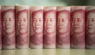 100 yuan notes depicting Chairman Mao