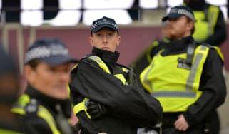 Police outside London Stadium