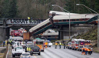 Three people have died after an Amtrak train derailed near Tacoma, Washington