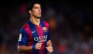 Luis Suarez makes his debut for FC Barcelona