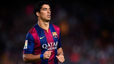 Luis Suarez makes his debut for FC Barcelona
