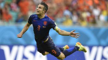Robin van Persie's famous header in the 2014 World Cup