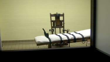 The death chamber at Southern Ohio Correctional Facility