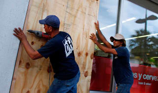 Residents in Puerto Rico prepare for the arrival of Hurricane Maria