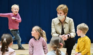 Nicola Sturgeon on the campaign trail in Insch