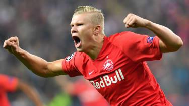 Norwegian striker Erling Braut Haaland has been in sensational form for Red Bull Salzburg