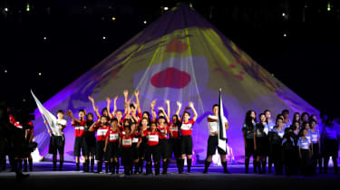 'Mount Fuji' played a major part in the ceremony