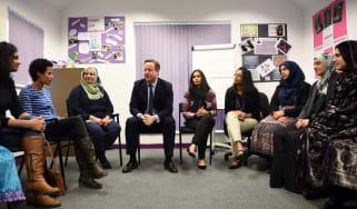 David Cameron meets Muslim women in Leeds