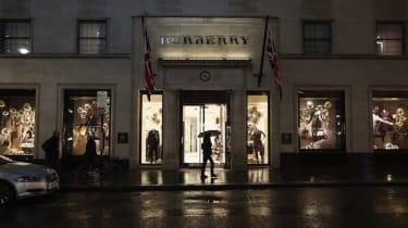 Burberry store on Bond Street in London