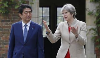Theresa May meets Shinzo Abe earlier this year