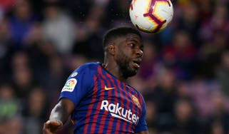 Barcelona defender Samuel Umtiti won the Fifa World Cup with France in 2018
