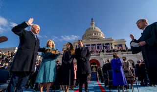 Joe Biden is sworn in as president of the United States