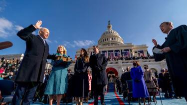 Joe Biden is sworn in as president of the United States