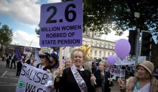 women's pension age protests