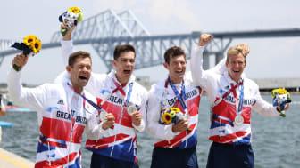 Team GB rowers Jack Beaumont, Angus Groom, Tom Barras and Harry Leask
