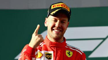 Ferrari driver Sebastian Vettel won four F1 world titles with Red Bull Racing
