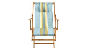 Amezza Acacia and Canvas Lounge Chair by La Redoute