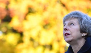 Prime minister Theresa May announces Brexit deal draft