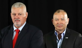 Wales head coach Warren Gatland and England head coach Eddie Jones