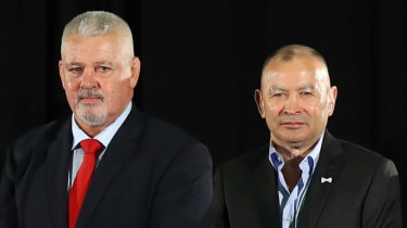 Wales head coach Warren Gatland and England head coach Eddie Jones