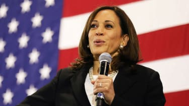 Democratic vice presidential nominee Kamala Harris is one of the big-name guests on Pod Save America