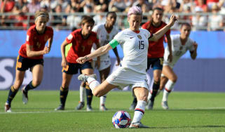 US captain Megan Rapinoe stepped up to score two penalties in the last 16 against Spain
