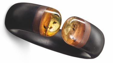 Hemmerle Harmony bangle in amber, ebony, copper and gold