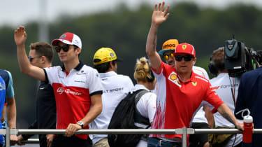 Ferrari 2019 drivers Charles Leclerc Kimi Raikkonen