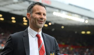 Ryan Giggs during his first game in charge