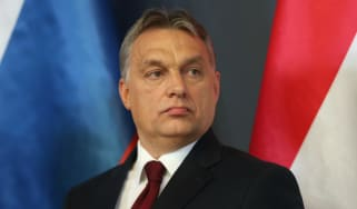 Victor Orban, whose nationalist party is expected to win this weekend's election