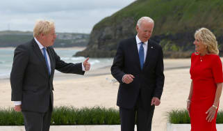 Boris Johnson with Joe and Jill Biden