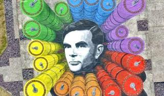 Alan Turing mural at GCHQ headquarters