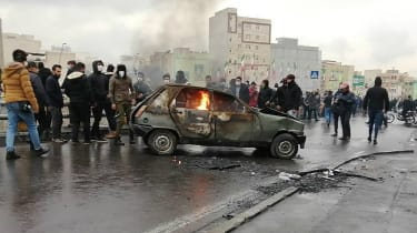 Iran, Tehran, Protest
