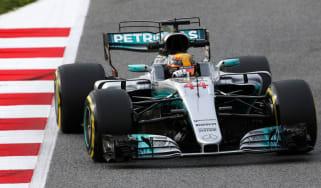 Lewis Hamilton testing for Mercedes