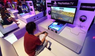 Sony Playstation at games fair